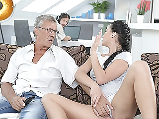DADDY4K. Cumshot in mouth culminates nice sex of daddy and.. dad