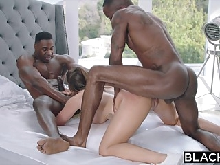 BLACKED Impulsive Brunette Couldn't Contain Her Desire For BBC big cock big tits blowjob