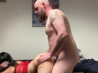 Greek girl gets Riding dick like a pro making her ass clap. bbw big ass cougar
