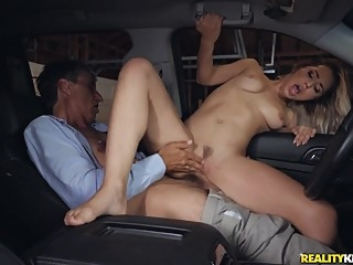 Alina Lopez & Steve Holmes in It's Your Turn to Drive the Sitter Home - SneakySex blonde car cumshot