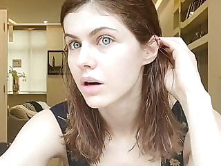 Sexy Alexandra Daddario - Quarantined in London brunette celebrity funny