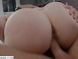 Banging the neighbor's hot wife babe blonde blowjob