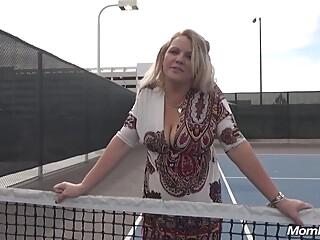 Blonde Mom Kinsley On The Tennis Cort blonde hd mature
