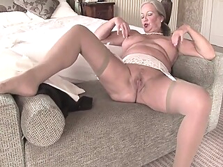 Granny April Undresses And Savorily Jerks Off Her Old Cunt big tits blonde fingering