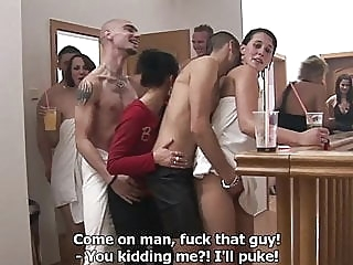 Czech Home Orgy blonde blowjob brunette