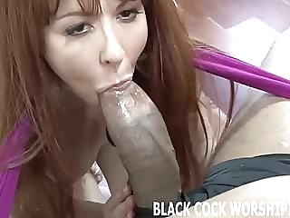 His big black cock is going to fill my ass with cum bdsm femdom interracial
