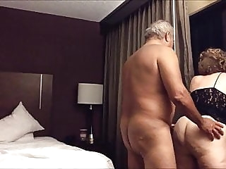 Old big ass wife fucked from behind in the hotel room amateur blonde mature
