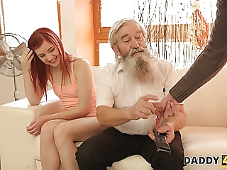 DADDY4K. Unexpected experience with an older gentleman. group sex old & young czech