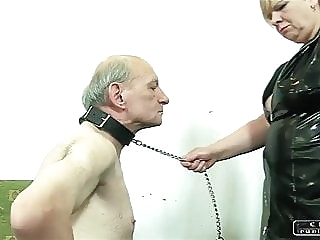 The Sadist Granny VI - face slapping, caning, whipping mature bdsm femdom