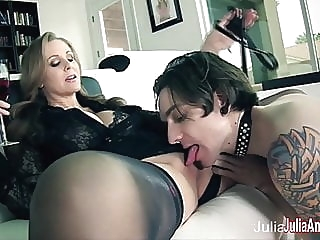 Julia Ann Demands Her Boy Toy to Service Her! blonde femdom milf