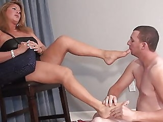 Step-mom foot pet mature femdom cuckold