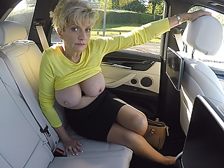 Big Milf Tits On Show In The Car - LadySonia big ass big tits blonde