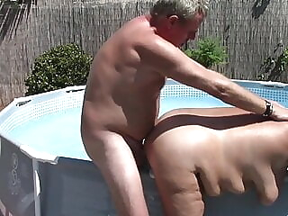 Chubby 50yo mature wife gets fucked and creampied bbw mature creampie