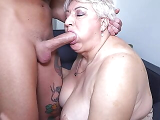 Big mom sucks and fucks her toyboy blowjob bbw mature