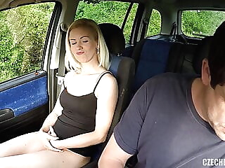 Czech bitch gets anally fucked in car by old guy anal blonde blowjob