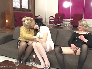 Two Grannies Fuck Teen Slut blonde brunette hd