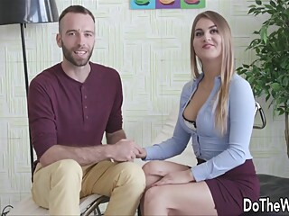Polish Wife Cuckolds Husband With Bbc big cock big tits blonde